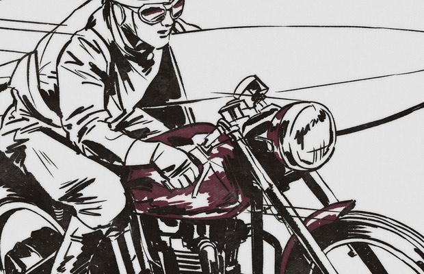 Speeding Motorbike